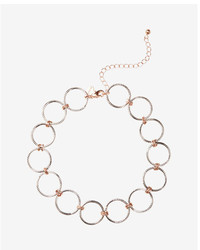 Express Circle Link Choker Necklace