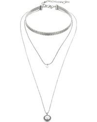 Lucky Brand Hard Choker Pendant Set Necklace Necklace