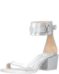 3.1 Phillip Lim Coco Metallic Mid Heel Ankle Sandal