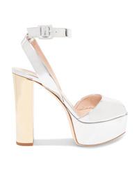 Giuseppe Zanotti Betty Mirrored Leather Platform Sandals