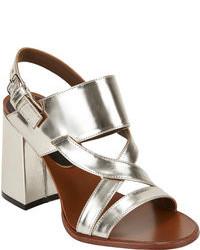 Marni Crisscross Strap Slingback Sandals