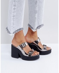 Asos Take A Ride Chunky Mules