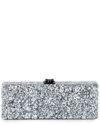 Flavia confetti acrylic clutch bag silver medium 650602