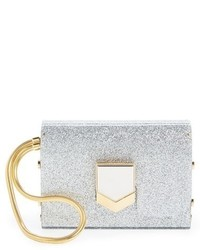 Lockett minaudiere glitter clutch metallic medium 633381