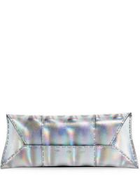 VBH Manila Stretch Karung Clutch Bag Silver