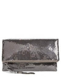 Whiting & Davis Mesh Foldover Crossbody Clutch