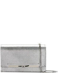 Casadei Metallic Twist Lock Clutch Bag