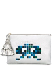 Anya Hindmarch Space Invaders Clutch