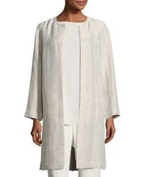 Eileen Fisher Organic Linencotton Topper Jacket