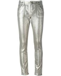 Roberto Cavalli Metallic Effect Skinny Jeans