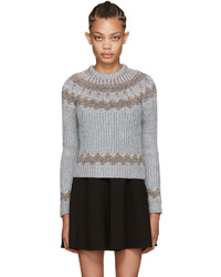 Valentino Grey Metallic Alpine Sweater