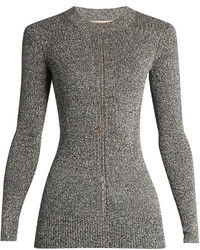 Christopher Kane Long Sleeved Metallic Sweater