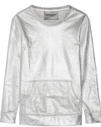 Norma Kamali Metallic Cotton Blend Sweatshirt