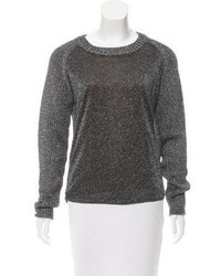 Reed Krakoff Metallic Crew Neck Sweater