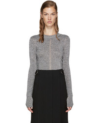 Christopher Kane Silver Metallic Sweater
