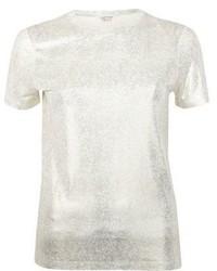 River Island Gold Metallic T Shirt