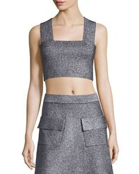 A.L.C. Ali Metallic Crop Top