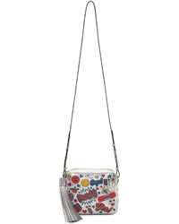 Anya Hindmarch Silver All Over Sticker Cross Body Bag