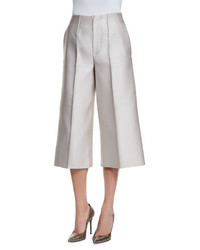 Co Wide Leg Cropped Pants Silver
