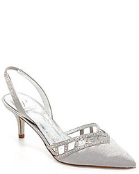 Adrianna Papell Haven Jeweled Cutout Slingback Pointed Toe Pumps