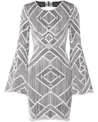 Silver Cutout Sheath Dress