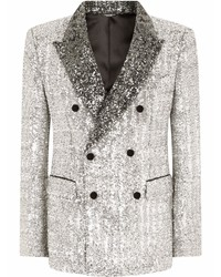 Dolce & Gabbana Sequinned Double Breasted Blazer