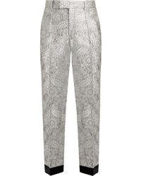 Gucci Floral Brocade Straight Leg Trousers
