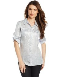 Metallic roll sleeve shirt medium 85264