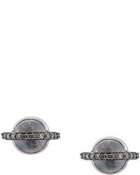Astley Clarke 14kt Gold Saturn Diamond Stud Earrings