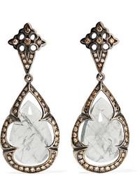 Loree Rodkin 18 Karat Rhodium White Gold Sapphire And Diamond Earrings Silver
