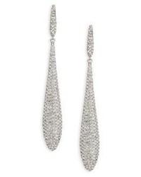 Adriana Orsini Pave Linear Teardrop Earrings