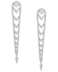 Adriana Orsini Stella Pave Crystal Long Drop Earrings
