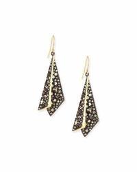 Alexis Bittar Crystal Layered Origami Earrings