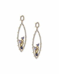 Alexis Bittar Crystal Spike Drop Earrings