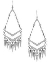 BCBGeneration Silver Tone Chandelier Spike Drop Earrings