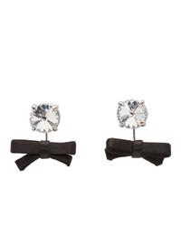 Miu Miu Black Crystal Bow Earrings