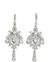 Body Candy Sterling Silver Cubic Zirconia Chandelier Earrings By Cheryl M