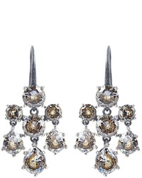 Bottega Veneta Cubic Zirconia And Silver Chandelier Earrings