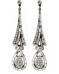 Ben-Amun Bridal Statet Crystal Tower Earrings