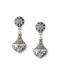 Konstantino Carved Sterling Silver Drop Earrings