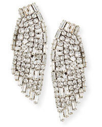 Saint Laurent Cascading Crystal Smoking Earrings