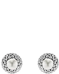 Lagos Caviar Pearl Stud Earrings