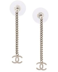 Chanel Vintage Cc Chain Drop Earrings