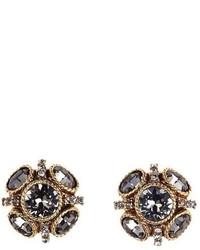 Oscar de la Renta Classic Button Stud Earrings