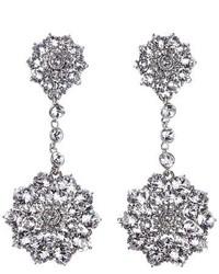 Oscar de la Renta Classic Jeweled Swarovski Crystal Drop Earrings