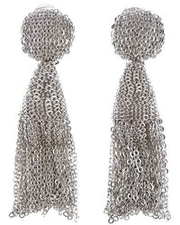 Oscar de la Renta Classic Short Tassel Chain Drop Earrings