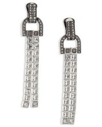 Lanvin Clip On Crystal Drop Earrings