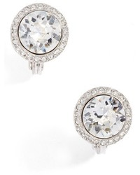 Givenchy Crystal Clip On Button Earrings