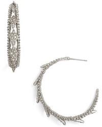 Alexis Bittar Crystal Encrusted Hook Earrings