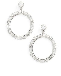 Topshop Crystal Hoop Earrings